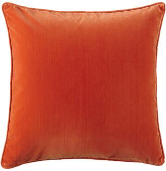 OKA Plain Velvet Cushion Cover, Square - Burnt Orange