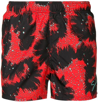 Givenchy Abstract Pattern Swim Shorts