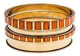 Chan Luu Painted Bangle Bracelets - Set of Four (Orange)
