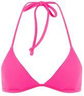 Topshop Ribbed triangle bikini top
