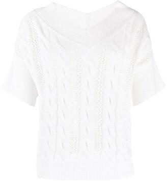 Antonelli Cable Knit T-Shirt