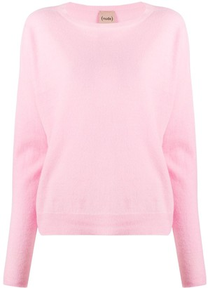 Nude Long-Sleeve Fine-Knit Jumper
