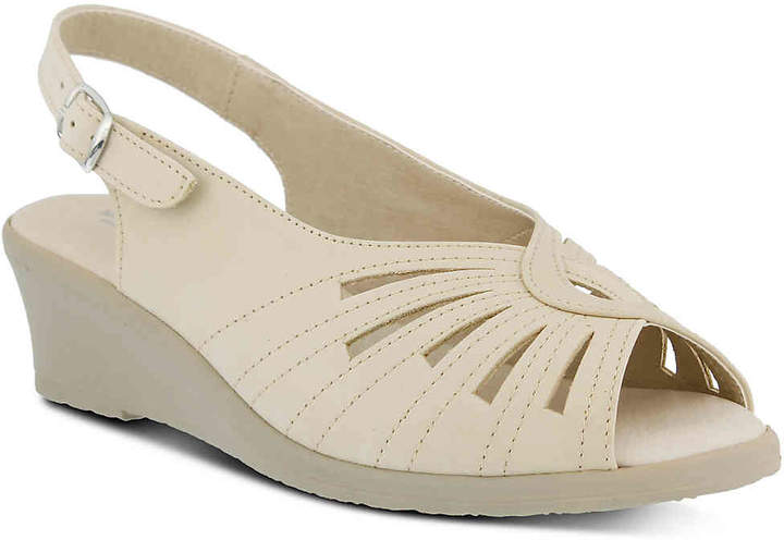 4f13049397d24 Spring Step Beige Wedge Heel Women s Sandals - ShopStyle