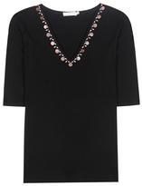 Tory Burch Knox crystal-embellished merino wool top