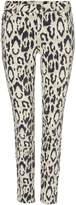 Oui Leopard print jean