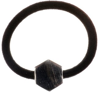 Johnny Loves Rosie Women Silver Plated Hair Band Hexagon Hair Ties