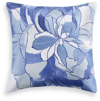 "Charter Club Damask Designs Sketch Floral 16"" x 16"" Decorative Pillow, Bedding"