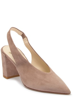 Butter Shoes Kendall Suede Pointed Toe Block Heel Pump