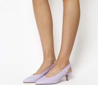 Office Madeleine Softy Slingback Heels Lilac Leather
