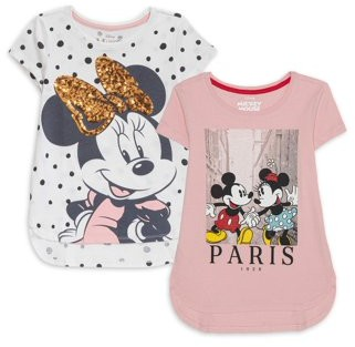 Minnie Mouse Girls 4-16 Sequin & Graphic T-Shirts, 2-Pack