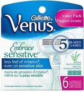 Gillette Embrace Sensitive Women's Razor Blade Refills, 6 Count