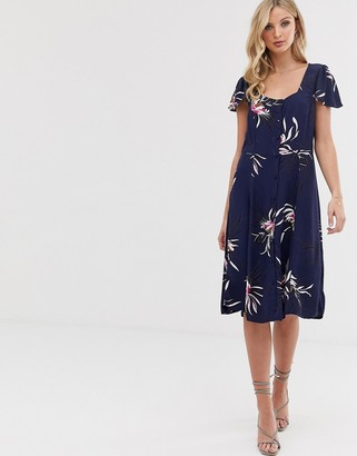 Vero Moda floral button thru dress