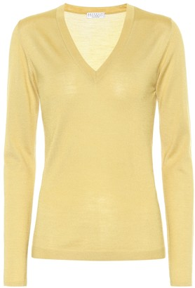 Brunello Cucinelli Silk and cashmere sweater