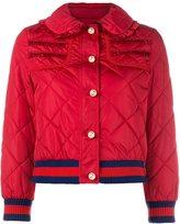 Gucci frill trim puffer jacket