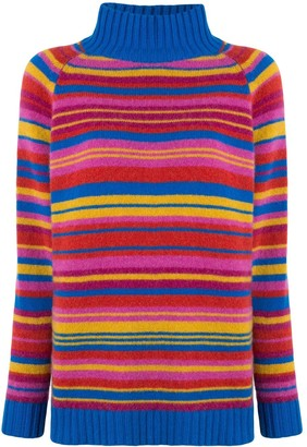 The Elder Statesman Crazy Stripe Highland jumper