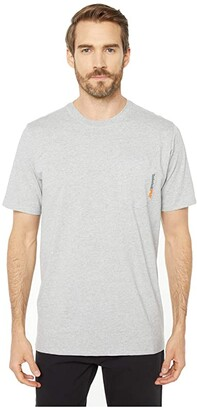 Timberland Base Plate Blended Short Sleeve T-Shirt (Light Grey Heather) Men's T Shirt