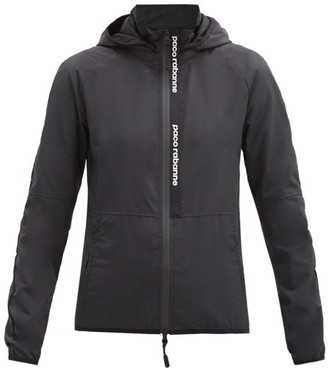 Paco Rabanne Logo-jacquard Hooded Technical Jacket - Black