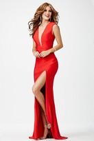 Jovani Plunging Neckline Prom Dress JVN22575