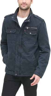 Levi's Big & Tall Washed Cotton Military Jacket