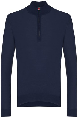 Kiton Half-Zip Polo Shirt