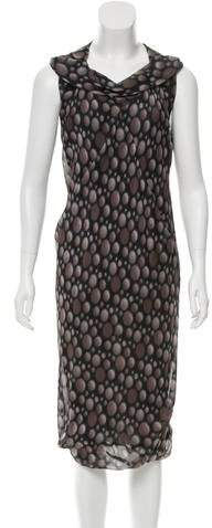 Rick Owens Silk Printed Dress