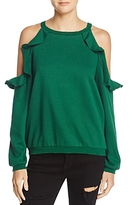 Honey Punch Ruffled Cold-Shoulder Sweatshirt - 100% Exclusive