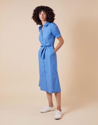 Under Armour Plain Shirt Midi Dress Blue