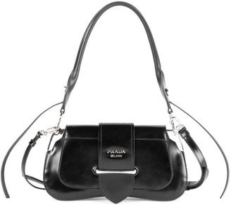Prada Sidonie Patent Leather Shoulder Bag