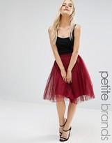 Boohoo Petite Tulle Midi Skirt