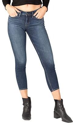 Silver Jeans Co. Suki Mid-Rise Curvy Fit Skinny Jeans L93136EGX388 (Indigo) Women's Jeans