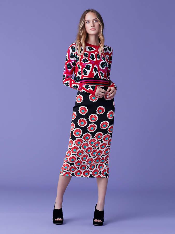 Diane von Furstenberg Harrison Crewneck Wool Pullover