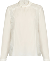 Rebecca Taylor Lace-panel silk blouse