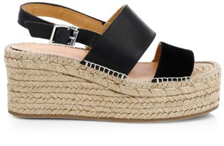 Rag & Bone Edie Platform Leather Espadrille Sandals