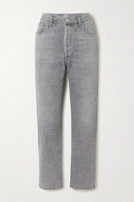 Citizens of Humanity Mckenzie Cropped Organic Mid-rise Straight-leg Jeans - Gray