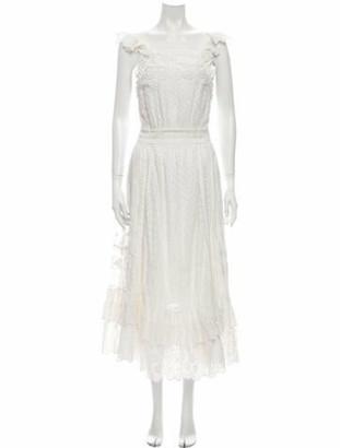 Ulla Johnson Patterned Long Dress White