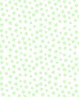 686 SheetWorld Fitted Basket Sheet - Pastel Green Stars Woven - Made In USA - 13 inches x 27 inches (33 cm x cm)