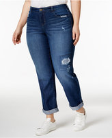 Style&Co. Style & Co Plus Size Curvy Distressed Malibu Wash Boyfriend Jeans, Created for Macy's