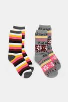 Ardene Pack of Printed Thermal Crew Socks