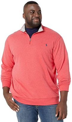 Polo Ralph Lauren Big & Tall Big Tall Luxury Jersey 1/2 Zip (Rosette Heather) Men's Clothing