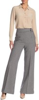 Kate Spade Pop Houndstooth Flared Leg Pants