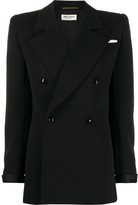 Saint Laurent structured shoulder double breasted jacket