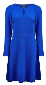 Dorothy Perkins Womens Cobalt Keyhole Fit And Flare Dress