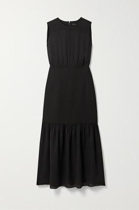 Theory Silk-crepe Midi Dress - Black