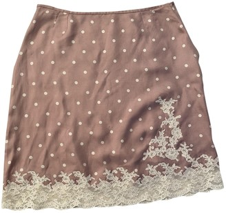 Christian Dior Pink Silk Skirt for Women Vintage