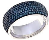 1.01ctw Colored Diamond Pave Sterling Silver Band Ring