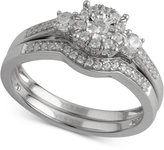 Macy's Diamond Cluster Bridal Set (1/2 ct. t.w.) in 14k White Gold