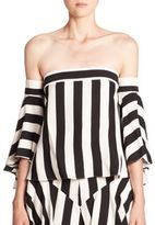 Milly Rosa Striped Off-The-Shoulder Top