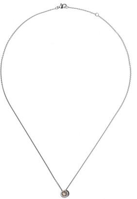 De Beers 18kt white gold Aura fancy coloured diamond pendant necklace