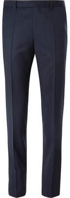 HUGO BOSS Navy Puppytooth Virgin Wool Trousers
