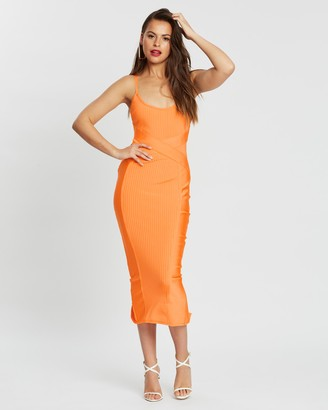 Missguided Bandage Cross Front Cami Midaxi Dress